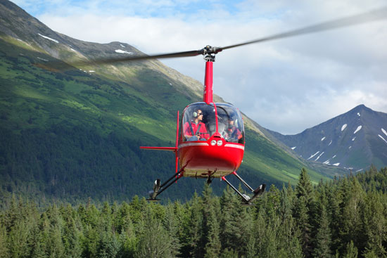 Alaska Luxury Tour on the helicopter